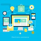Electronic Commerce Flat Illustration