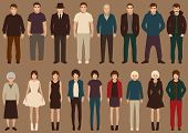 picture of cartoon character  - fashion vector collection of people - JPG