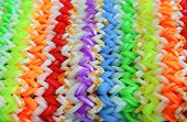 Big Colorful Rubber Rainbow Band Made On Loom