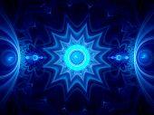 Blue Ice Mandala