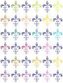 Fleur De Lis Wallpaper - Coloured