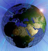 Globus Naturfarbe Nahost Schwerpunkt Swirl-Hintergrund