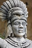 Portrait Of Mayan Warrior
