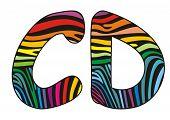 Background Skin Zebra Shaped Letter C,d.eps