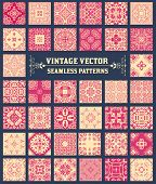 38 Seamless Patterns Background Collection - for design and scrapbook - in vector