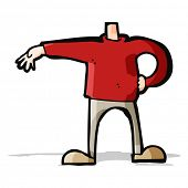 cartoon male body making gesture (mix and match cartoons or add own photos as head)