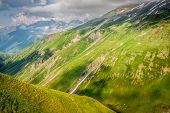 Summer Mountain Landscape Around Gletsch, Switzerland
