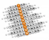 innovation concept (orange-white crossword puzzles series)