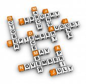 months of the year (orange-white crossword puzzles series)