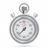 foto of stopwatch  - The retro stopwatch on the white background - JPG