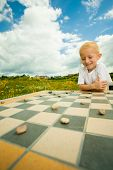 picture of draught-board  - Draughts board game - JPG