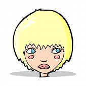 cartoon unhappy girl