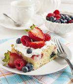 Cornmeal-berry Sheet Cake