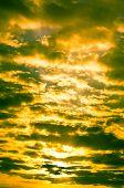 Gelb Stimmung am Himmel