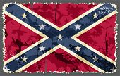 stock photo of flag confederate  - Confederate grunge flag - JPG