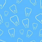 Seamless Pattern With Tooth