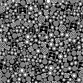 3D Printer Dark Seamless Pattern