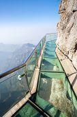 Glass sky walk at Tianmenshan Tianmen Mountain China