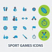 sport, fitness, games, victory vector set of colorful flat icons, signs, design elements for mobile