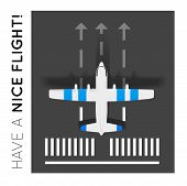 picture of aeroplane symbol  - Vector plane on the runway at the airport - JPG