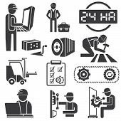 industrial management icons