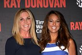 LOS ANGELES - JUL 9:  Cindy Ambuehl, Eva LaRue at the