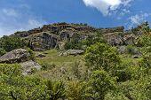 Sedimentary rock in Giants Castle KwaZulu-Natal nature reserve