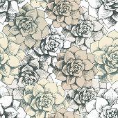 Vintage seamless flower pattern
