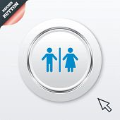 picture of toilet  - WC sign icon - JPG