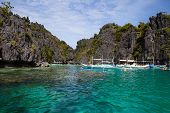 Tropical Beach In El Nido, Philippines