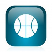 ball blue glossy internet icon