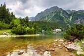 Popradske  Pleso - Slovakia Mountain Landscape At Summer