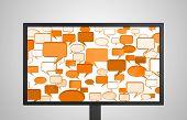 Desktop Monitor Display Conversation Orange