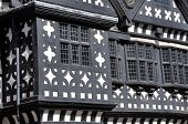 foto of manor  - Traditional Tudor period timber framed black and white manor house in Stockport - JPG