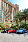 Dubai, Uae - September 11: The Atlantis The Palm Hotel And Limousines. It Is Located On Man-made Isl