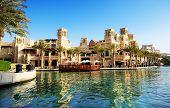 Dubai, Uae - September 9: View Of The Souk Madinat Jumeirah. Madinat Jumeirah Encompasses Two Hotels