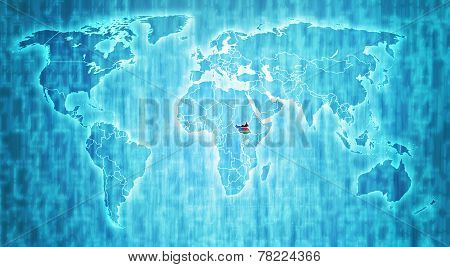 South sudan territory on world map poster id78224366 south sudan territory on world map poster gumiabroncs Gallery