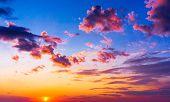 Idyllic Backdrop Burning Skies