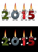 Lighted candle numbers 2015