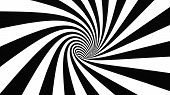 pic of hypnotizing  - Black and white hypnotic spiral 3d optical - JPG