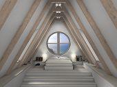 Mansard room interior