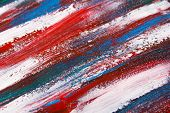 Texture Background - Close Up Of Blue And Red Paint Strokes