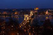 Chain Bridge At Budapest