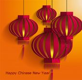 Chinese New Year lantern template vector