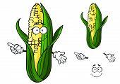 Cartoon ear of corn pointing