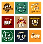 Vintage beer labels and emblems collection