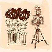 Camera tripod sketch