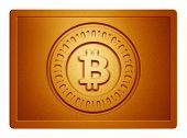 Orange Metallic Bitcoin Plate