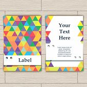 Card with Pattern of Colorful Lozenges