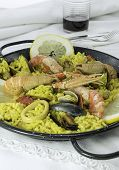 Paella, typical food